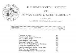 Example table of contents for membership