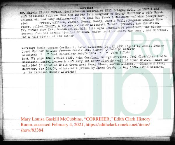 McCubbins notes